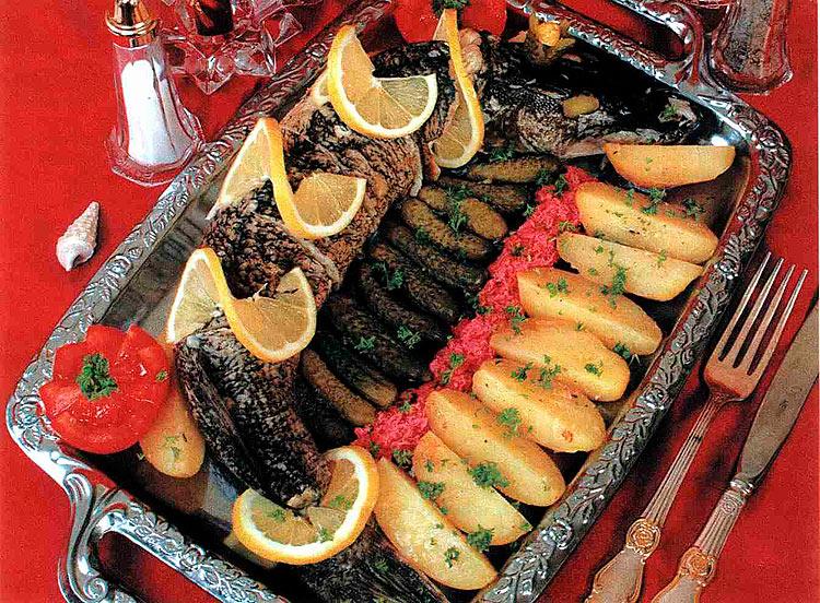 Стол заказов горячих блюд из рыбы